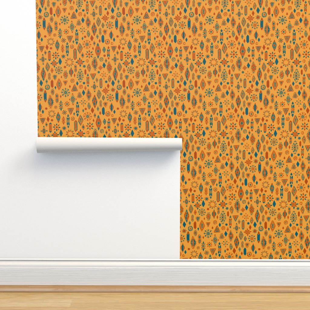 Isobar Durable Wallpaper featuring Southwest Boho by leiah