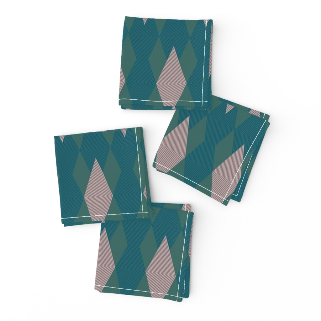 Frizzle Cocktail Napkins featuring Sort-of Argyle by autumn_musick