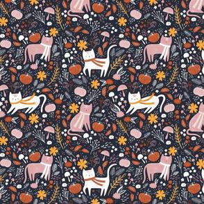Pumpkin patch kitties - navy