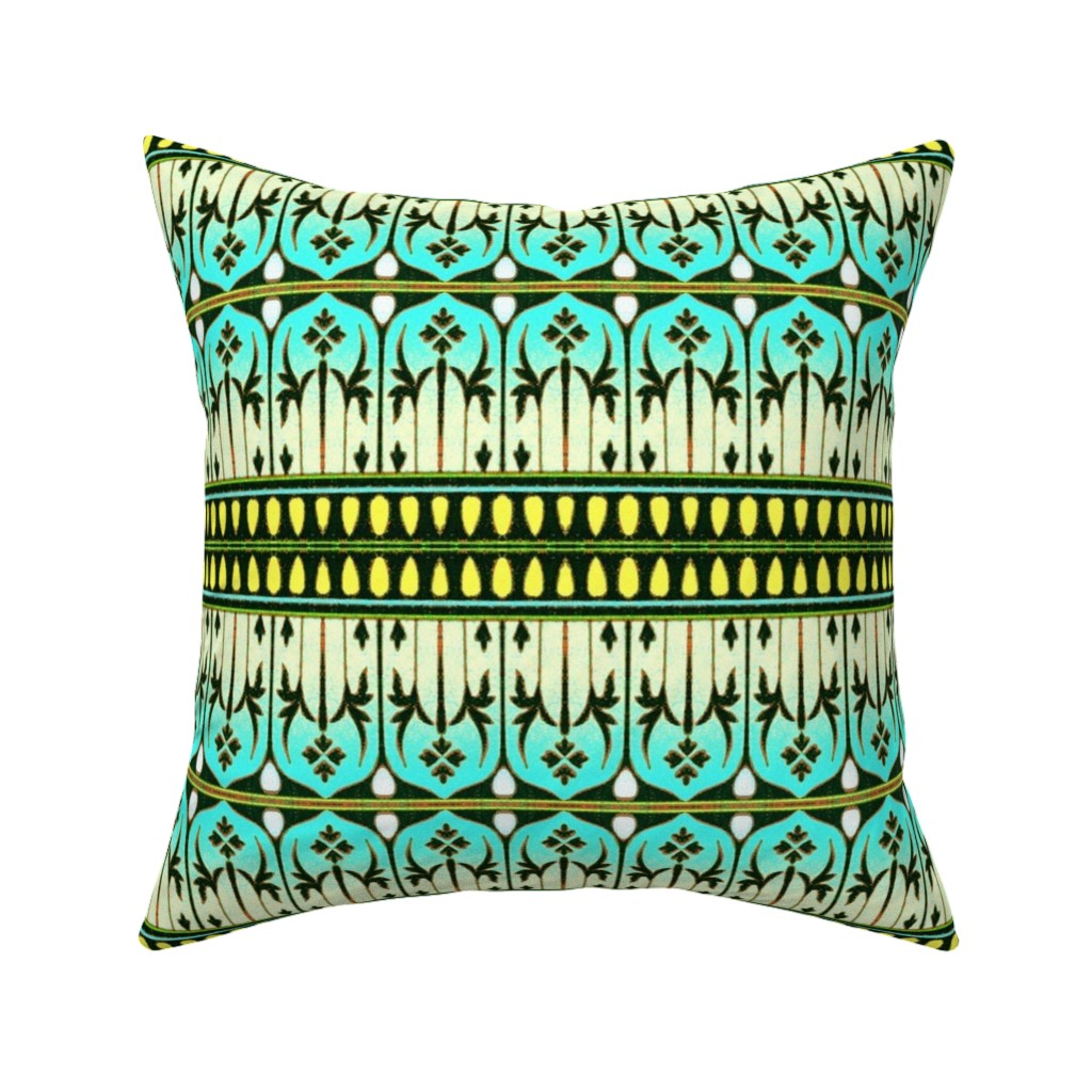 Catalan Throw Pillow featuring indo-persian 483 by hypersphere