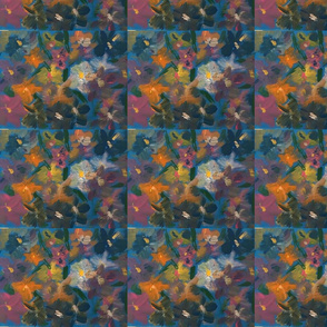 Abstract, impressionistic florals