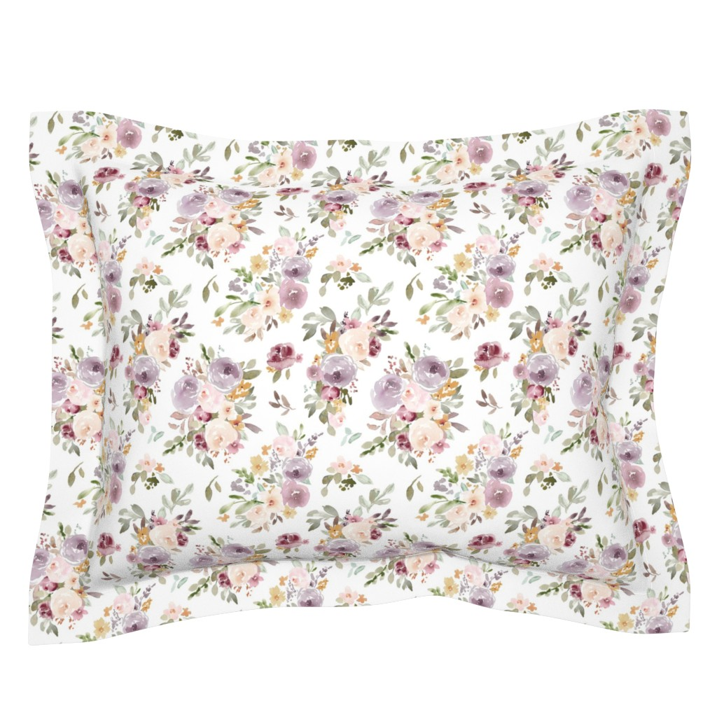 Sebright Pillow Sham featuring Lightgarden on White by angiemakes