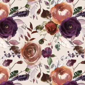 Peachy Plum Floral