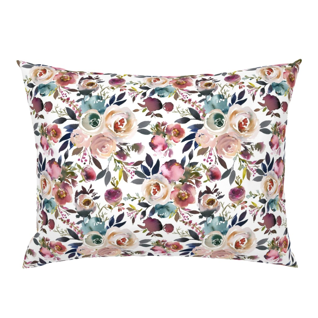 Campine Pillow Sham featuring Misty Autumn Rose by g+c