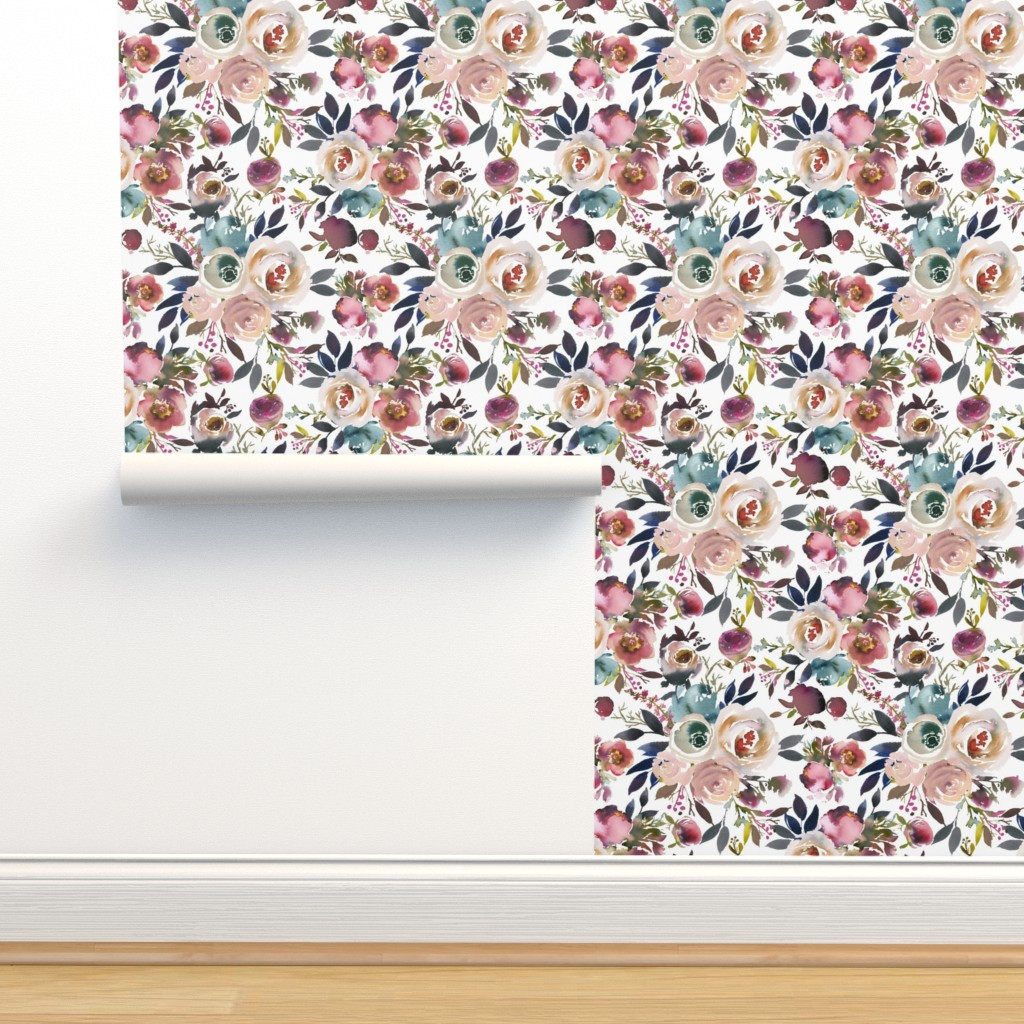 Isobar Durable Wallpaper featuring Misty Autumn Rose by g+c