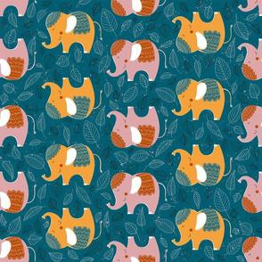 Decorative Elephants Pattern