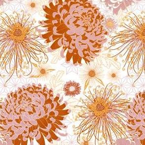 Japanese Chrysanthemums (white) V1