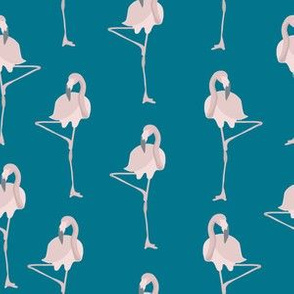 Colette's Flamingos on Turquoise