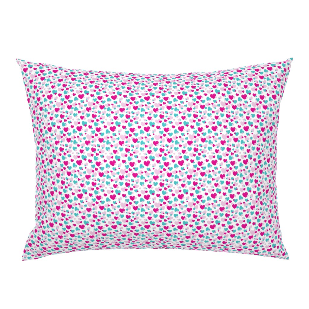 Campine Pillow Sham featuring Girls Hearts by colettegorgas