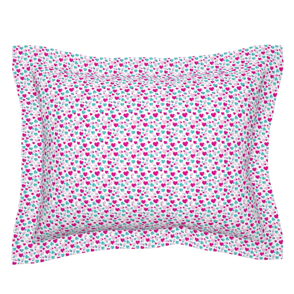 Sebright Pillow Sham featuring Girls Hearts by colettegorgas