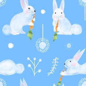 Colette's large scale bunnies- blue