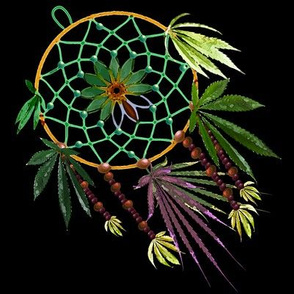 Cannabis Dream Catcher 8x8