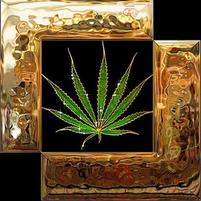 Gold Framed Ganja 8x8