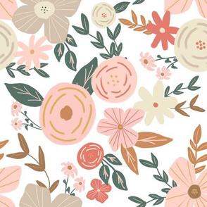 Vintage Neutral Florals