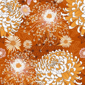 Japanese Chrysanthemums (terracotta)