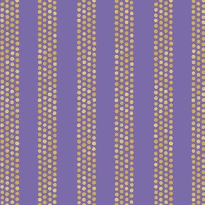 Dots and stripes in purple and orange