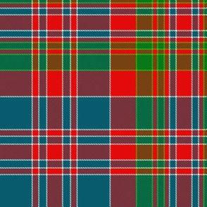 "MacDonald of Boisdale clan tartan, 10"" bright"