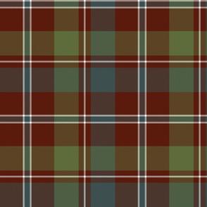 "MacDonald of Glenladale tartan, 10"" muted"