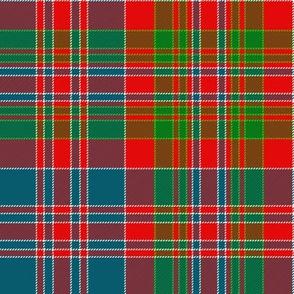 "MacDonald of Boisdale clan tartan, 8"" bright"