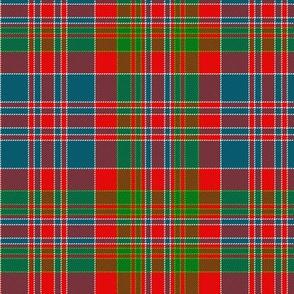 "MacDonald of Boisdale clan tartan, 6"" bright"