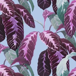 TROPICAL LEAVES PURPLE