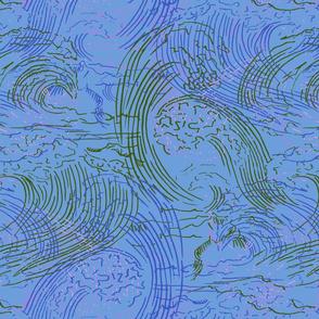 CHRASHING OCEAN WAVES