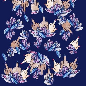 Middle finger Feminist Crystals