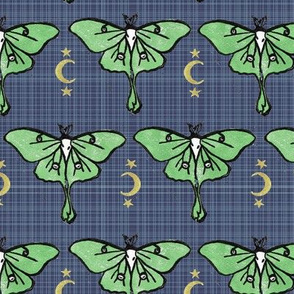 Luna Moth with Moon and Stars - Large