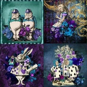 Wonderland Blues Patchwork (Rotated)