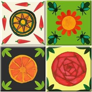 Watercolour Spanish Tiles