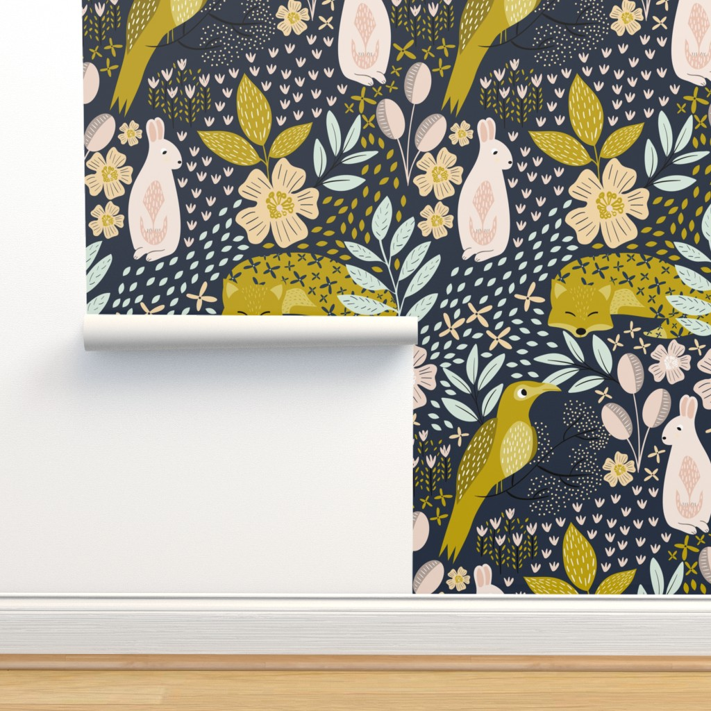 Isobar Durable Wallpaper featuring Woodland Flora - Extra Large by melarmstrong