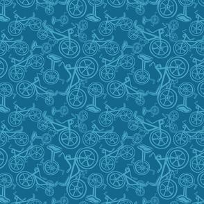 Bikes blue and light blue