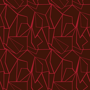 Valentine Lava maroon and red