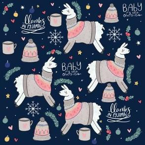 Llamas In Fair Isle Jumpers