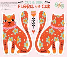Flora the Cat - cut & sew