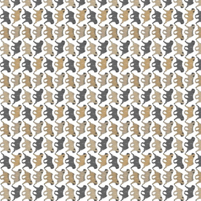 Trotting Pugs border A - vertical small