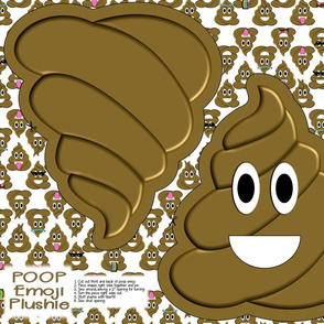 Cut and Sew Poop Emoji Pillow Plushie