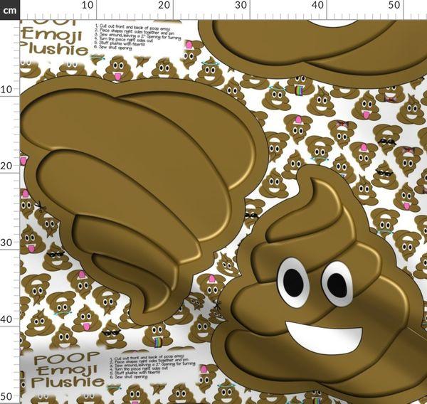 Cut And Sew Poop Emoji Pillow Plushie Spoonflower
