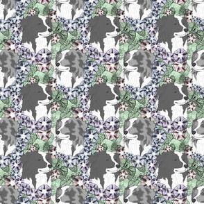 Floral Australian Shepherd bicolor portraits