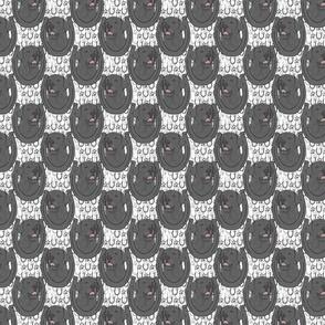 Black Labrador Retriever horseshoe portraits - small