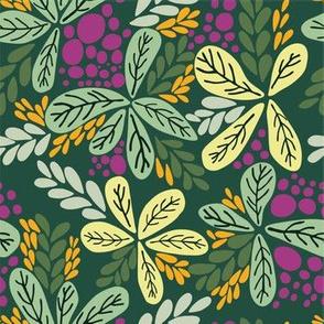 FlowerLeaves_dark green