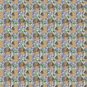 Floral Lhasa Apso portraits B - small