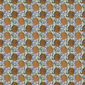 Floral Lhasa Apso portraits C - small