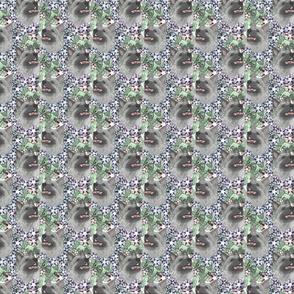 Floral Norwegian Elkhound portraits - small