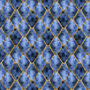 Blue Earth Gemstone Dragon Scales
