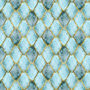 Golden cracked ice Gemstone Dragon Scales