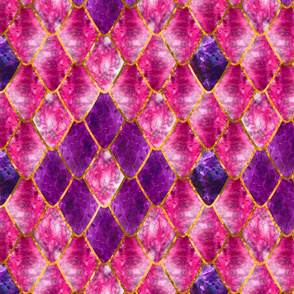 Fuchsia Royalty Gemstone Dragon Scales