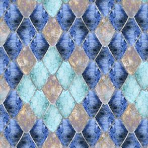 Blue Ice Opal Gemstone Dragon Scales