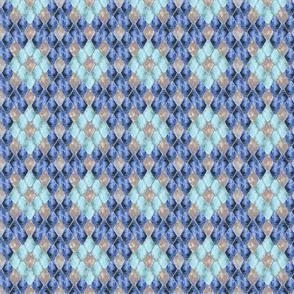 Small Blue Ice Opal Gemstone Dragon Scales
