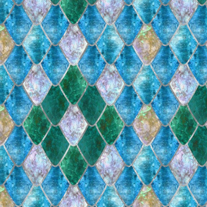 Shimmering Aqua Opal Gemstone Dragon Scales